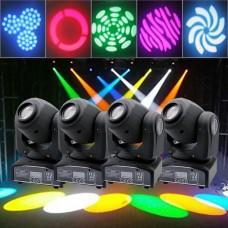 4PCS 30W RGB gaismas efekts GOBO Stage LED Moving Head DMX DJ